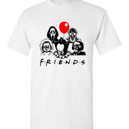 $18.95 - Friends Horror Movie Creepy Funny Halloween T-Shirt