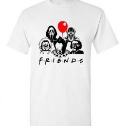 $18.95 - Friends Horror Movie Creepy Funny Halloween T-Shirt