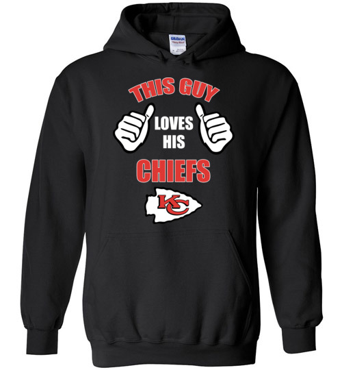 $32.95 - This Guy Loves His Kansas City Chiefs NFL Hoodie